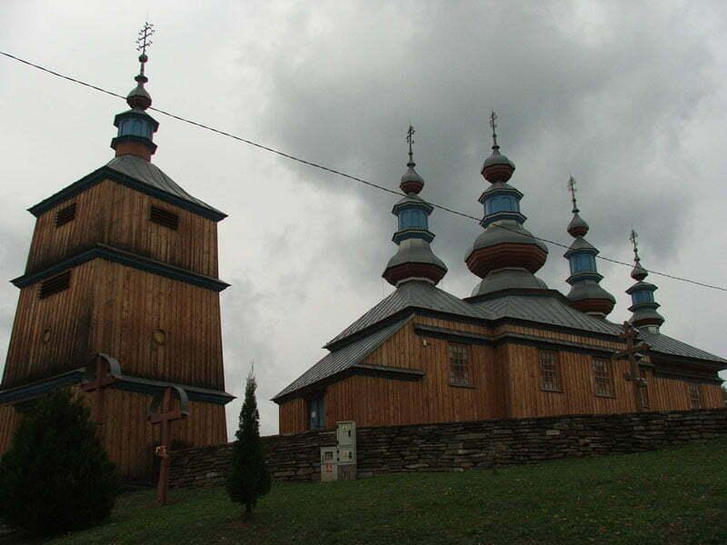 Komańcza - odbudowana cerkiew / Fot. Aneta Jamroży