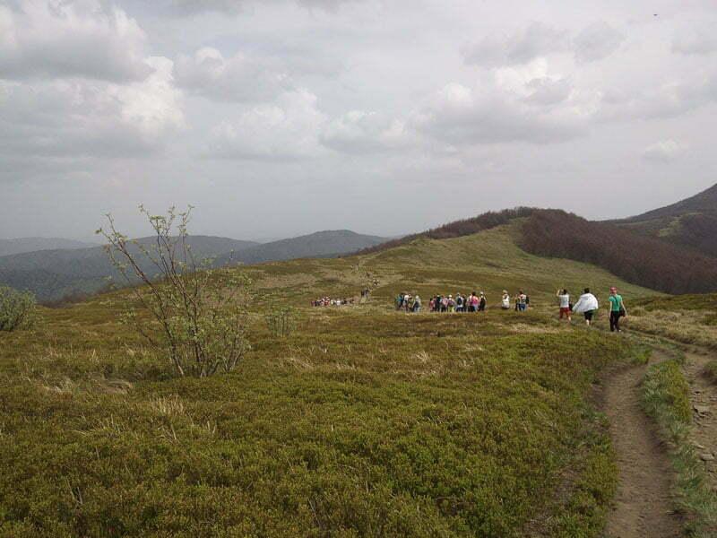 Szlak z Przełęczy Orlowicza na Połonine Wetlińską / fot. Aneta Jamroży