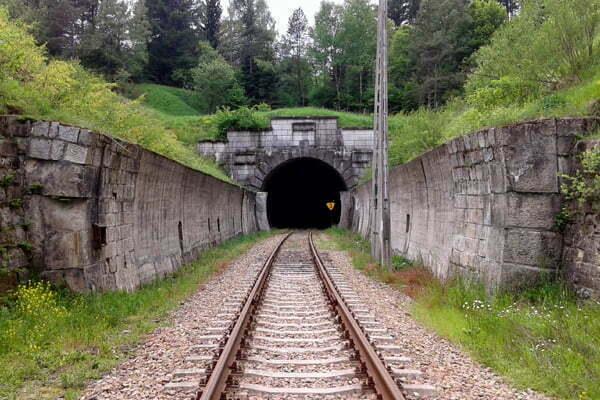 Tunel w Łupkowie od strony polskiej Fot. KFG Wikipedia
