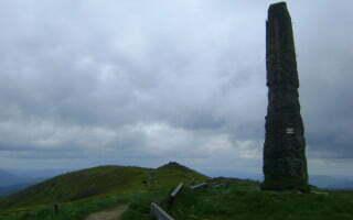 Pozostałości po wieży triangulacyjnej / Fot. Aneta Jamroży