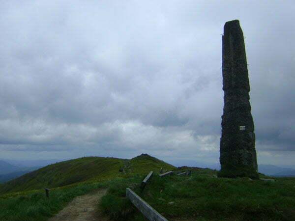 Pozostałości po wieży triangulacyjnej Fot. Aneta Jamroży