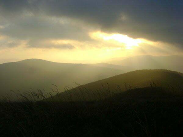 Zachód słońca z Rawek Fot. Aneta Jamroży