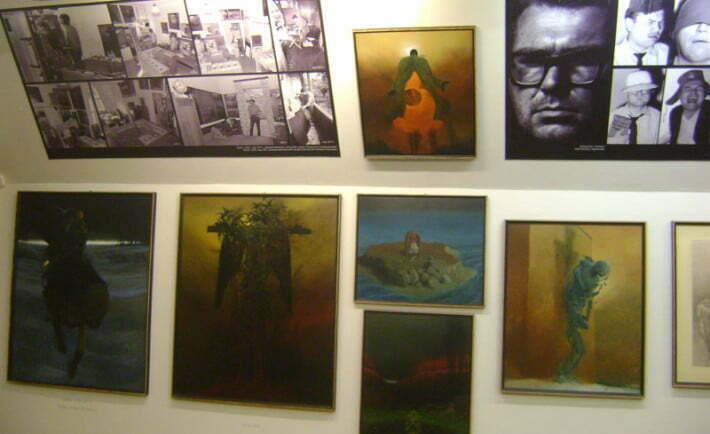 Galeria Beksińskiego  w sanockim muzeum Fot. Aneta Jamroży
