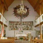 Wnętrze kościoła w Ustrzykach Górnych (2010 r.)/Fot. Aneta JAmroży