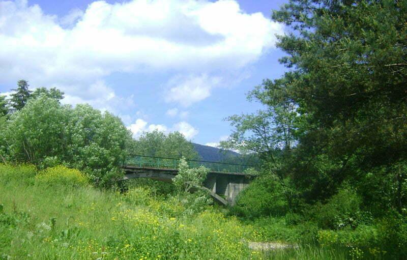 Most kolejki leśnej w pobliżu stacji w Cisnej Fot. Aneta Jamroży