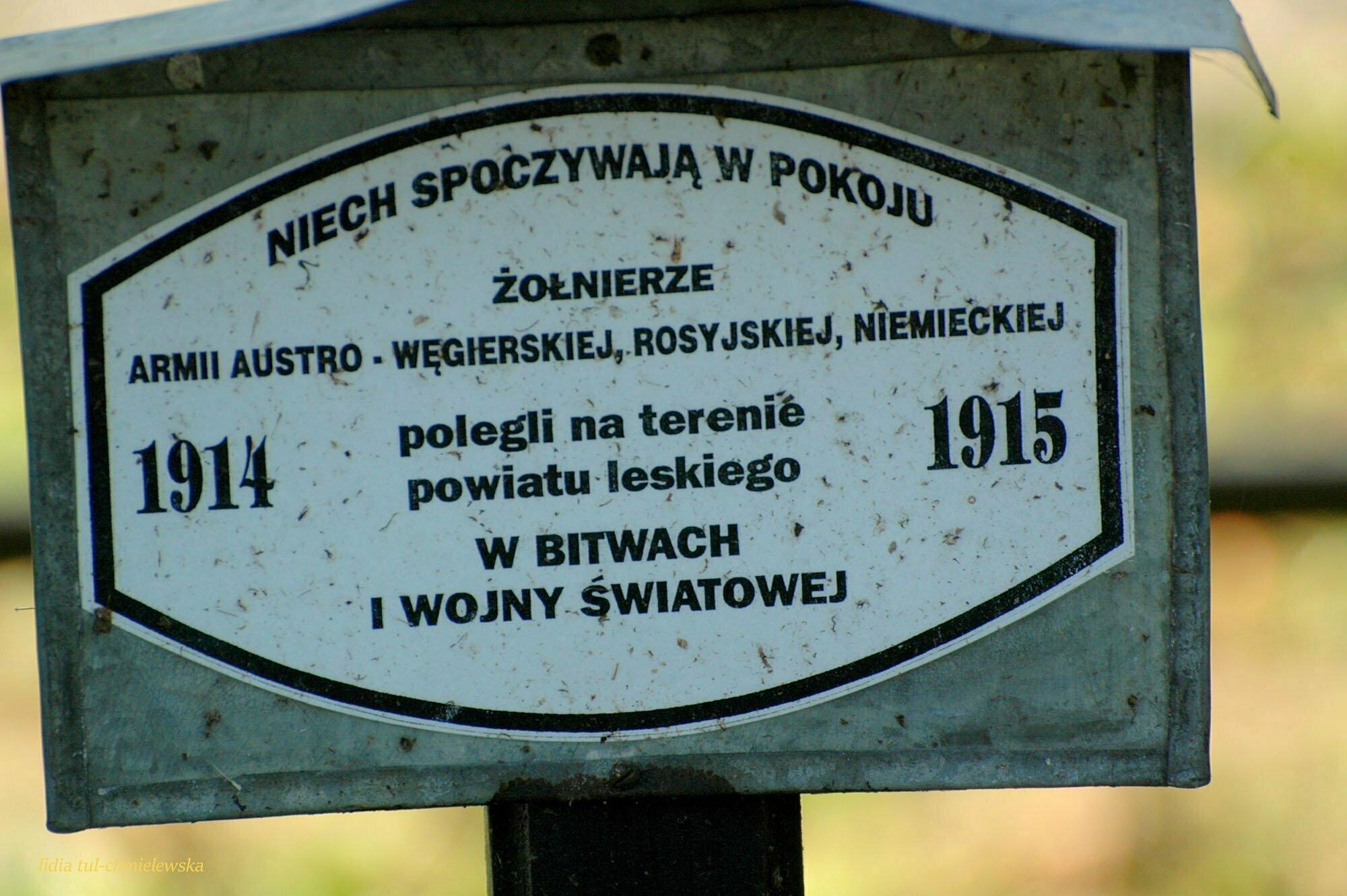 Cmentarz wojskowy w Lesku / fot. Lidia Tul-Chmielewska