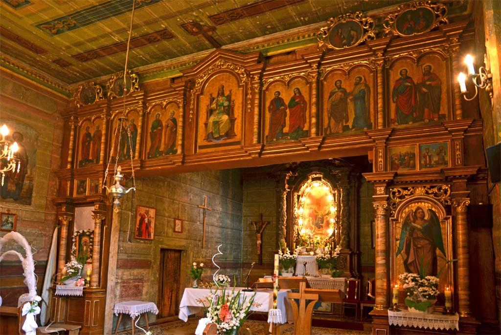 Ikonostas, cerkiew w Paszowej pw. Soboru Matki Bożej / fot. Wojciech Pysz