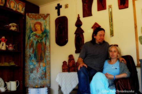 Róża i Krzysztof Franczak, Galeria Barak, Czarna / fot. Lidia Tul-Chmielewska