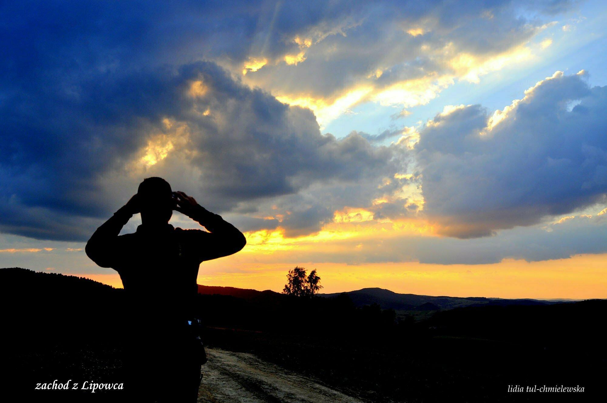 Zachód słońca z Lipowca / fot. Lidia Tul-Chmielewska