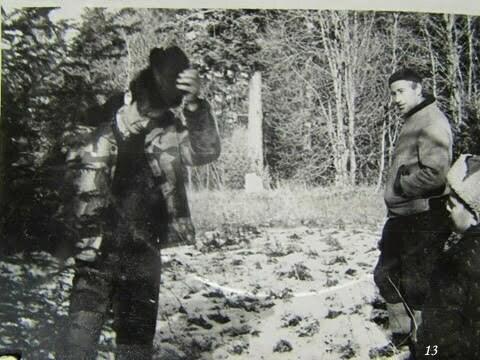Wyprawa po świąteczną choinkę. Ja i Władysław Drozd, człowiek, który był prawą ręką ojczyma w sprawach związanych z prowadzeniem PGR. / fot. Archiwum Lesława Grabowskiego