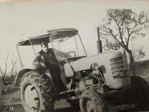 """Ja na traktorze """"Zetor"""" Major , PGR Czarna. / fot. Archiwum Lesława Grabowskiego"""