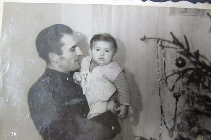 Mój ojciec Zdzisław Grabowski i ja, Wrocław 1948, Boże Narodzenie / fot. Archiwum Lesława Grabowskiego