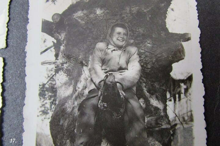 Ja na konarze drzewa, gdzieś tam w Bieszczadach. / fot. Archiwum Lesława Grabowskiego