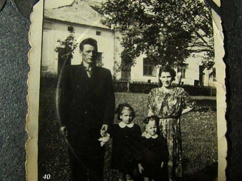 Edward Baraniecki, Krysia, moja późniejsza żona, Danka i mama Kazimiera Baraniecka, Ustrzyki Dolne. / fot. Archiwum Lesława Grabowskiego