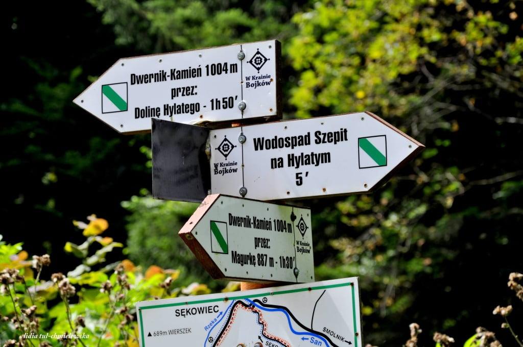 węzeł szlaków w drodze na Dwernik Kamień - fot. Lidia Tul-Chmielewska