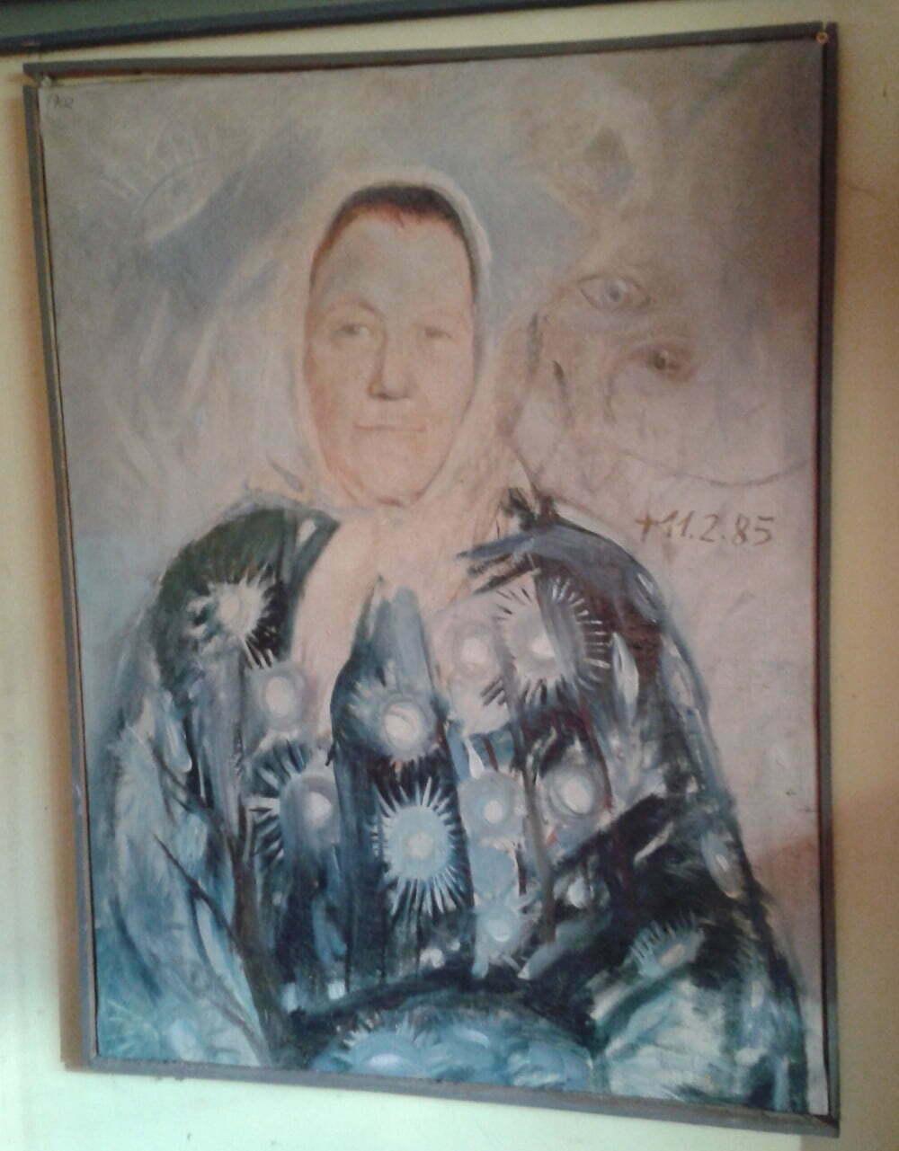 Portert babci na obrazie Zbigniewa Zamołojki