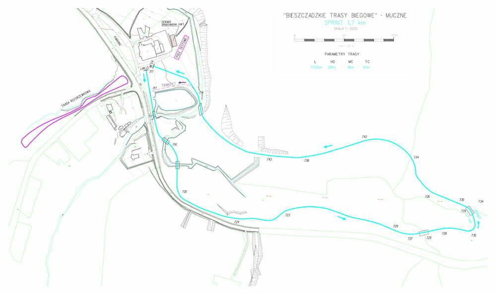 Muczne trasa z homologacja 1.7 km-