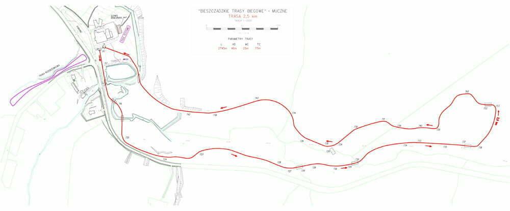 Muczne-trasaz homologacja 2.5 km