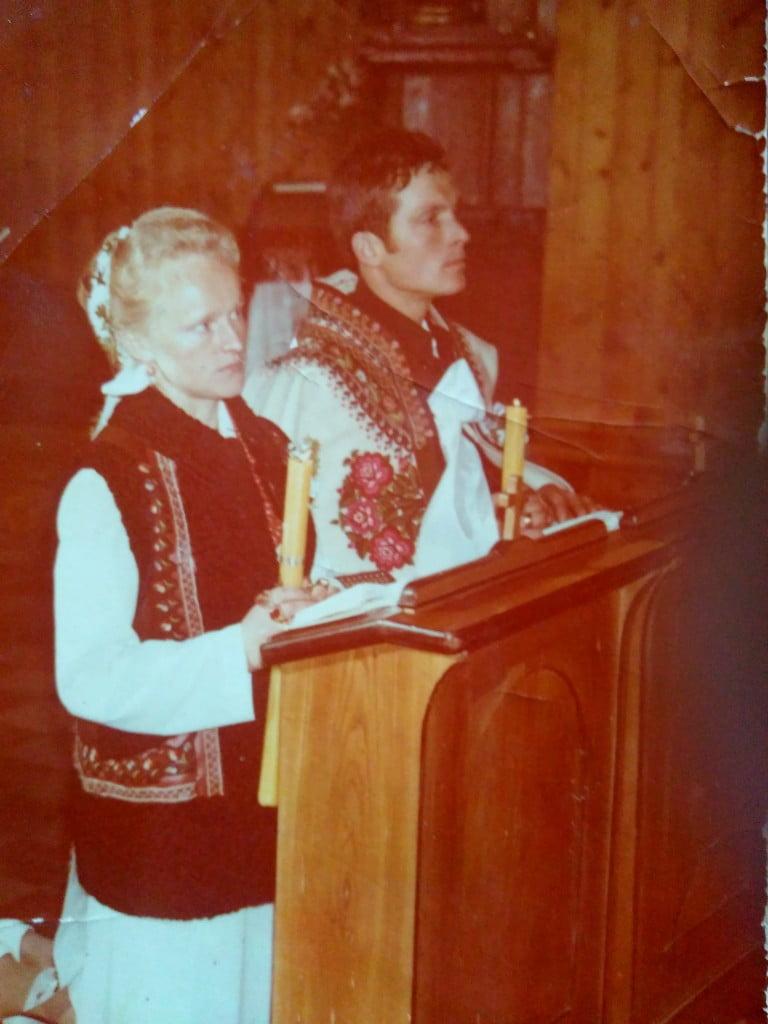 Ślub Zofii i Wojciecha Zubków /fot. archiwum rodziny