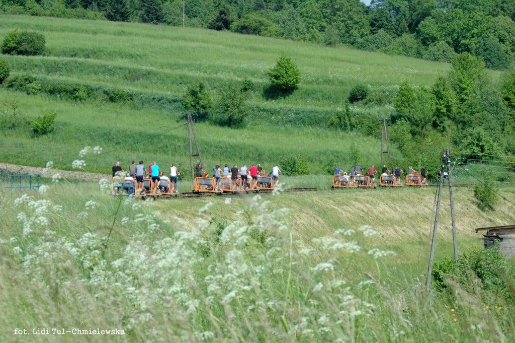 Drezyny rowerowe w Bieszczadach / fot. Lidia Tul-Chmielewska