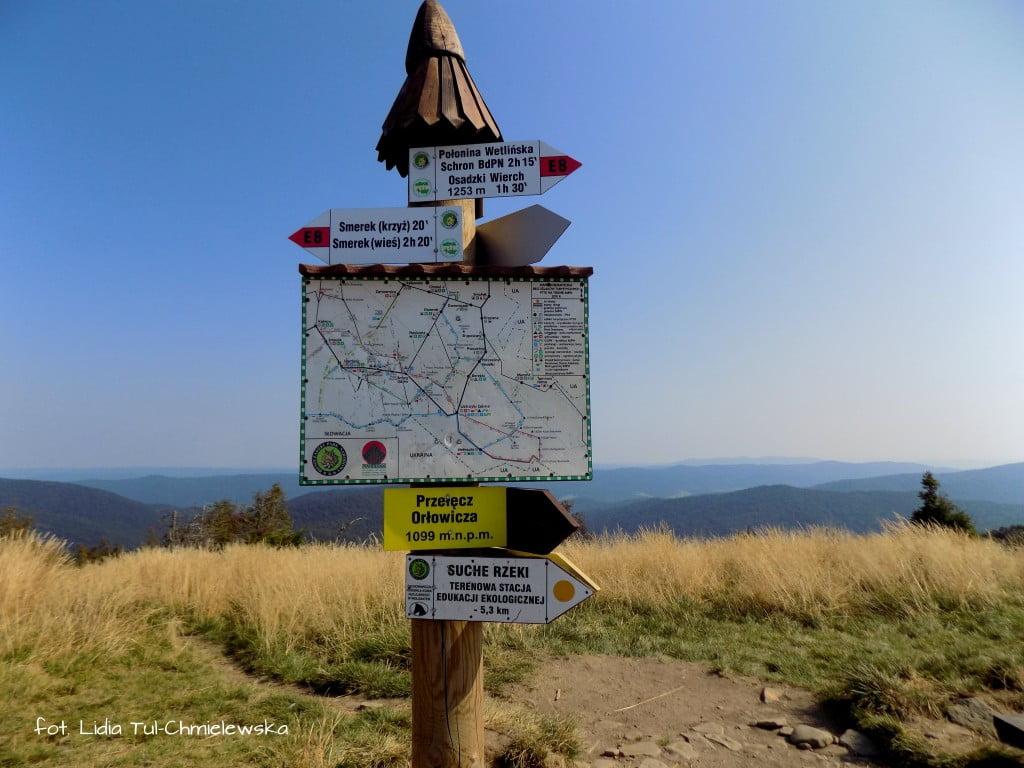 Na rozrdrożu Przełęcz Orłowicza-fot. Lidia Tul-Chmielewska