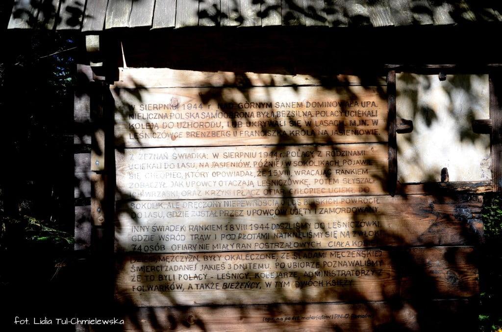 Tablica informacyjna przy Leśniczówce Brenzberg fot. Lidia Tul-Chmielewska