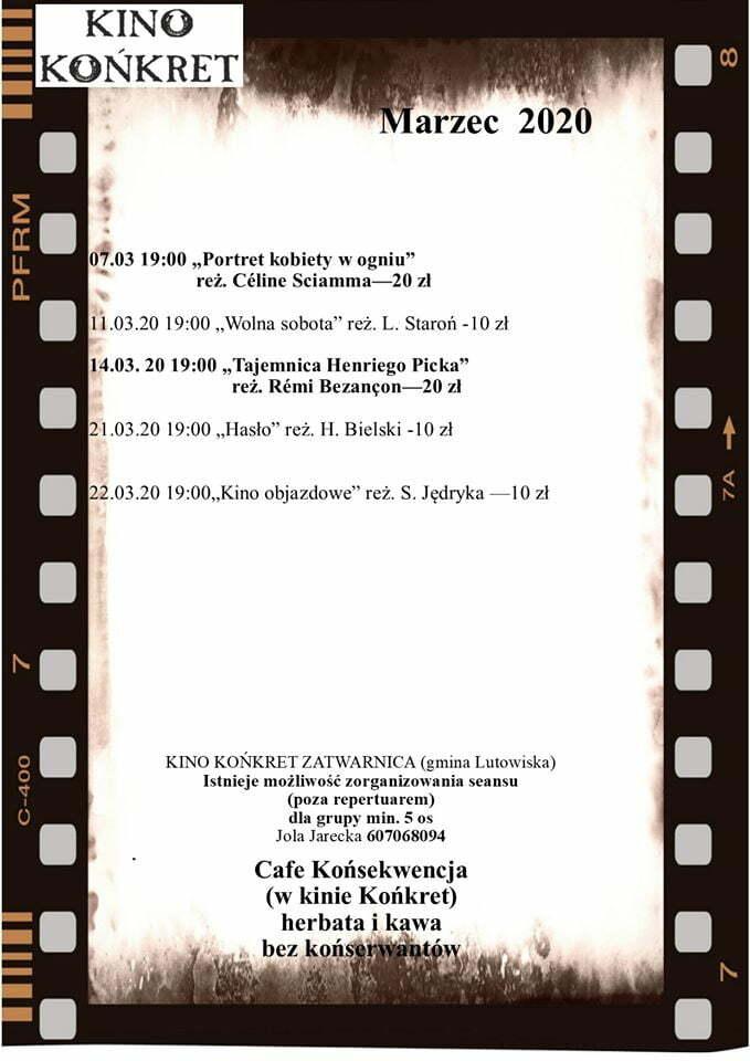 Kino Końkret - marzec