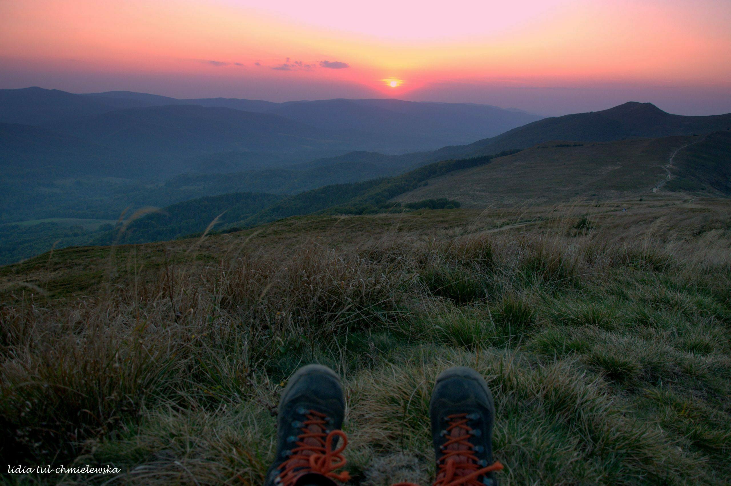 Zachod słońca z Połoniny Wetlinskiej fot. Lidia Tul-Chmielewska