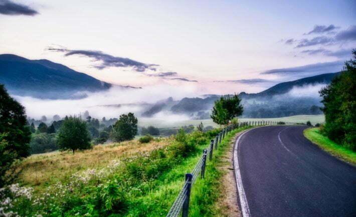 Droga w Bieszczady, trasa w Bieszczady
