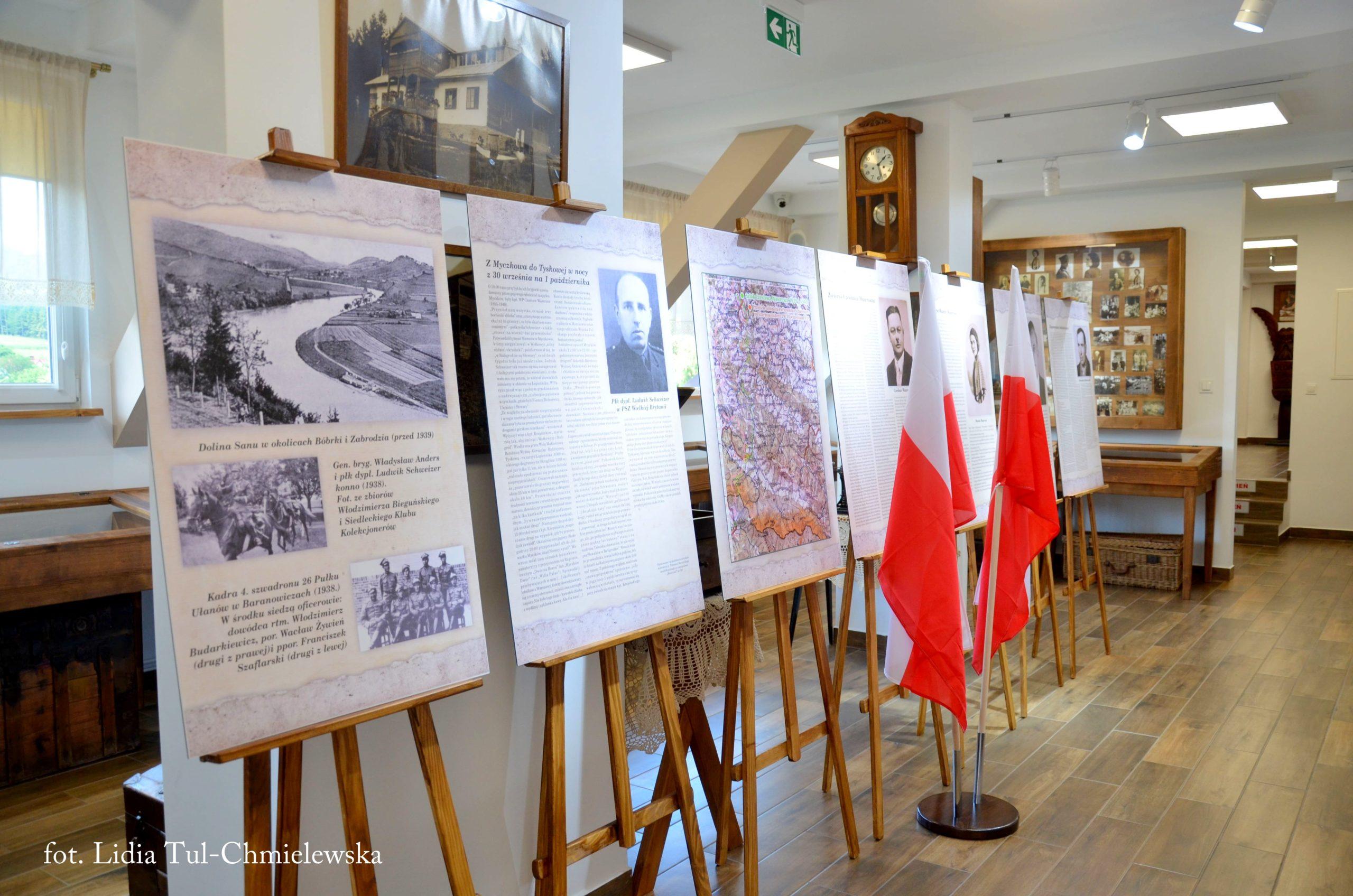 Ekspozycja ku pamięci Bohaterów w Muzeum Bojków/ fot. Lidia Tul-Chmielewska