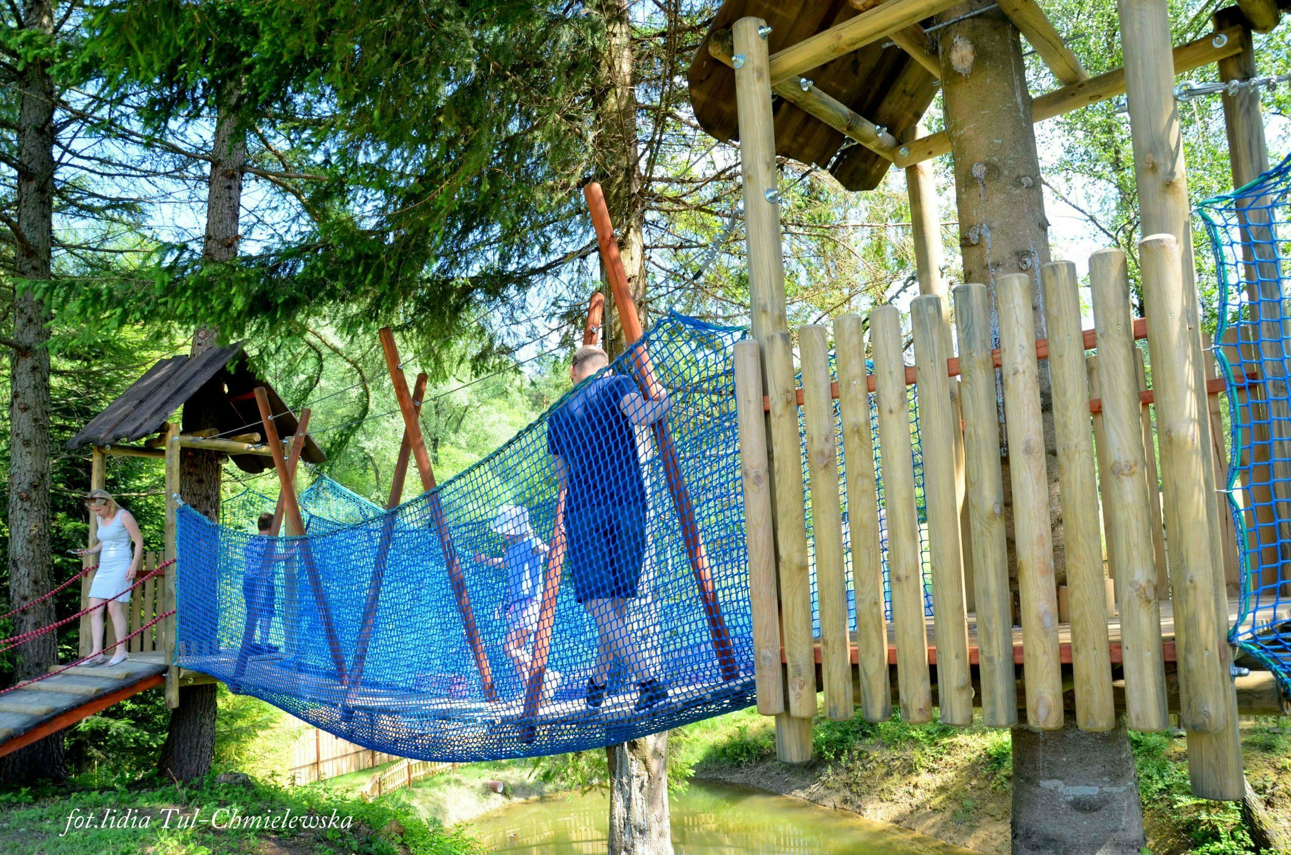 Wiejskie zoo mini park linowy fot. Lidia Tul-Chmielewska