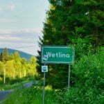 Wetlina - wjazd do miejscowości od strony Cisnej