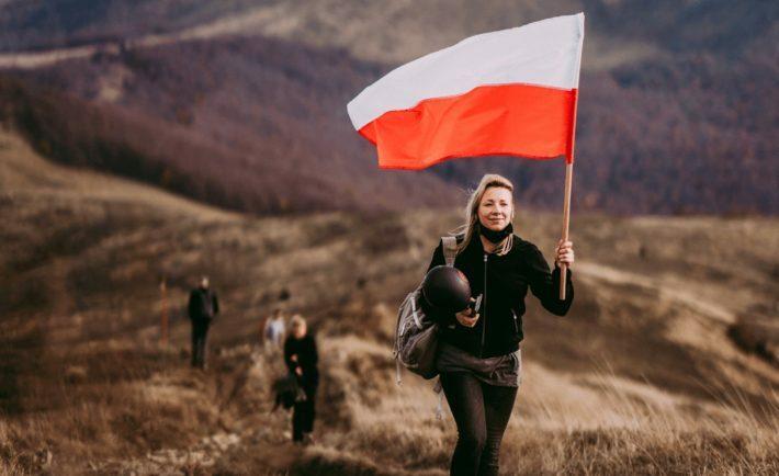 Aleksandra Grzech, organizatorka protestu na górze Smerek / fot. Beata Czyżewska