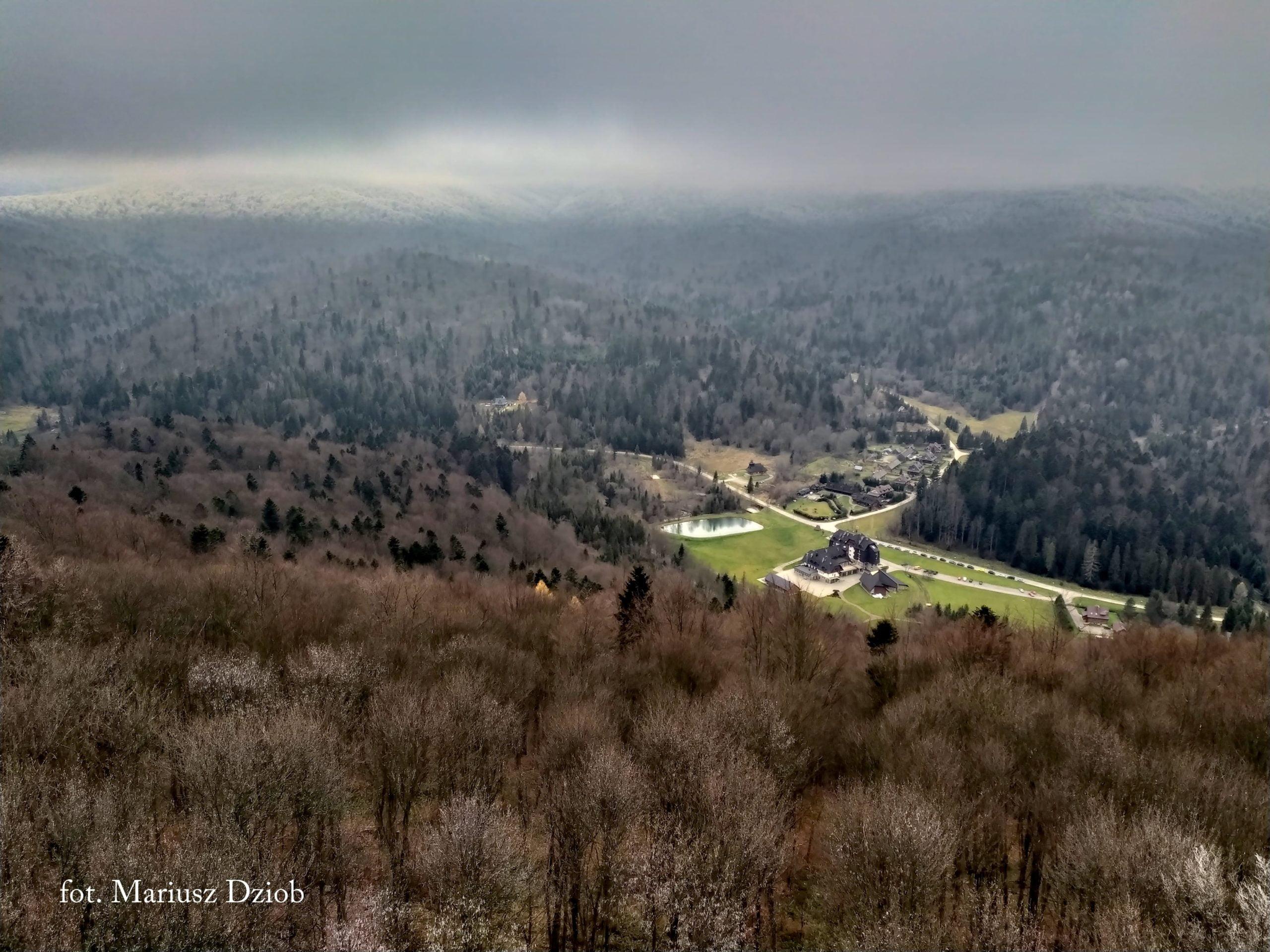 Urokliwe panoramy z wiezy widokowej na Jeleniowatym fot. Mariusz Dziob