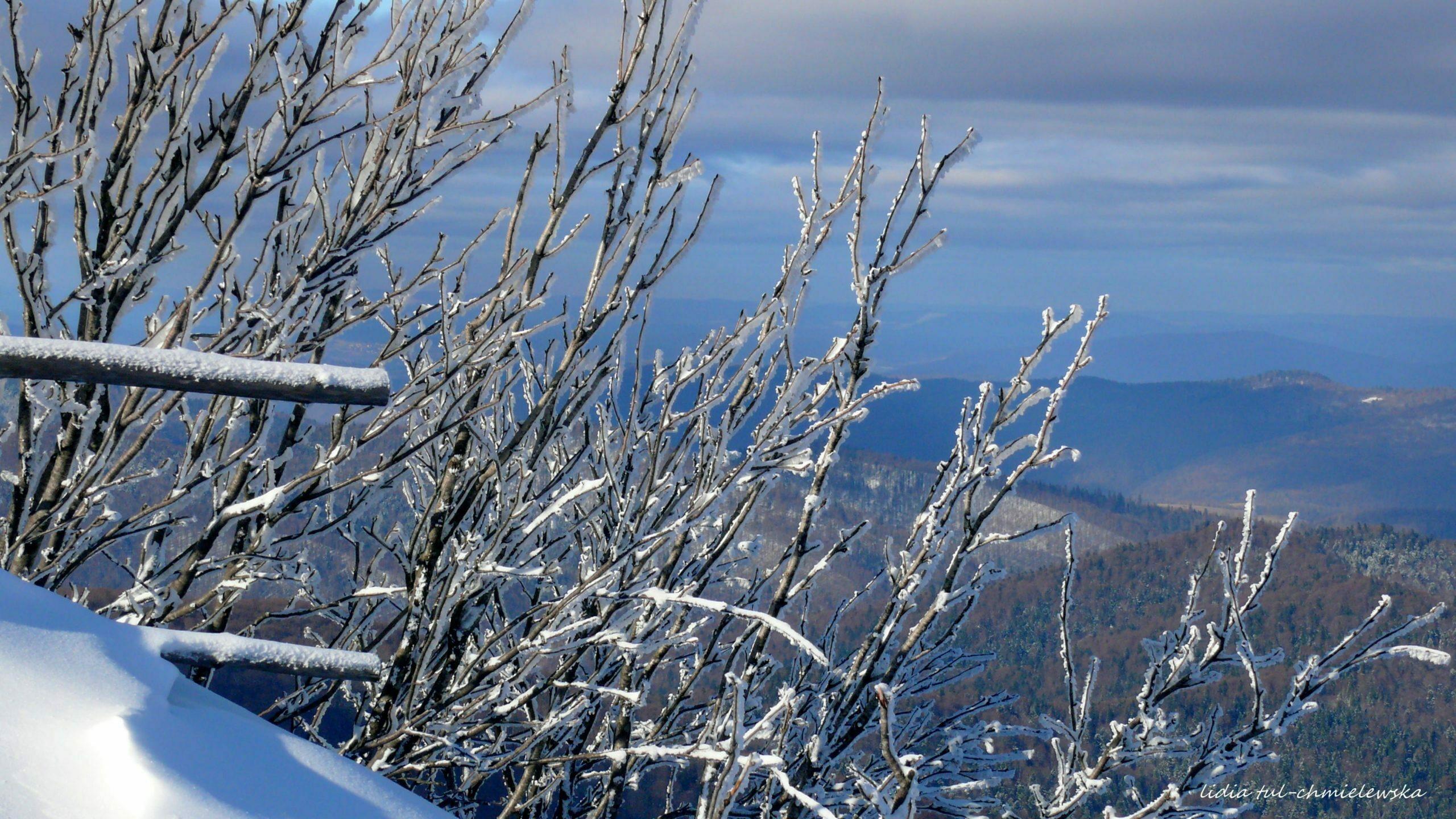 Krajobrazy zimowe z Połonin fot. Lidia Tul-Chmielewska