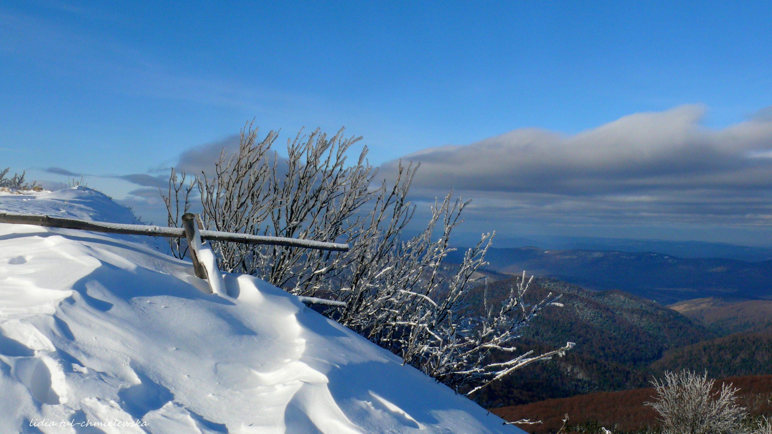 Piękno zimowych Bieszczad fot. Lidia Tul-Chmielewska