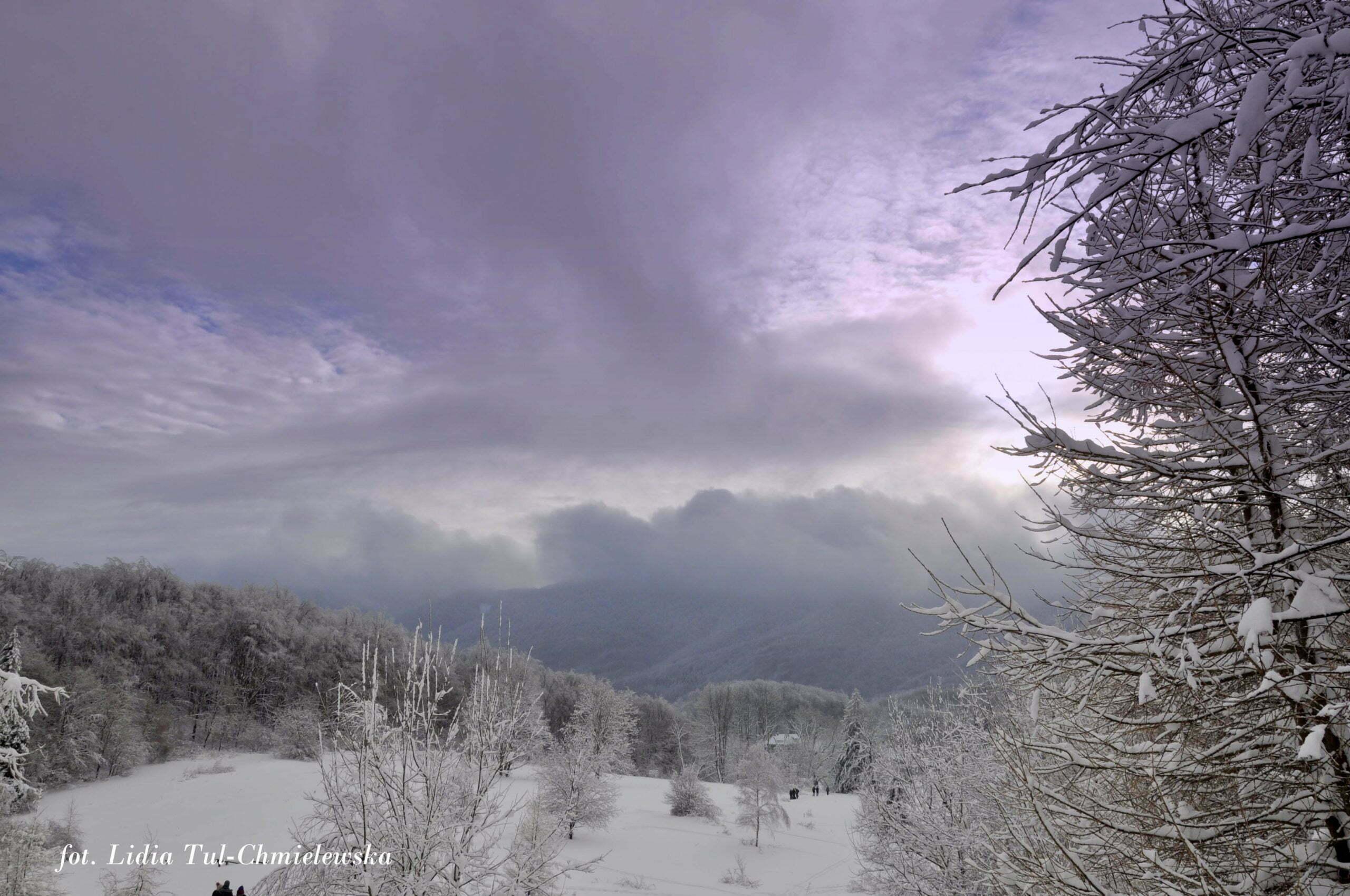 Pogoda zimą w Bieszczadach jest kapryśna fot. Lidia Tul-Chmielewska