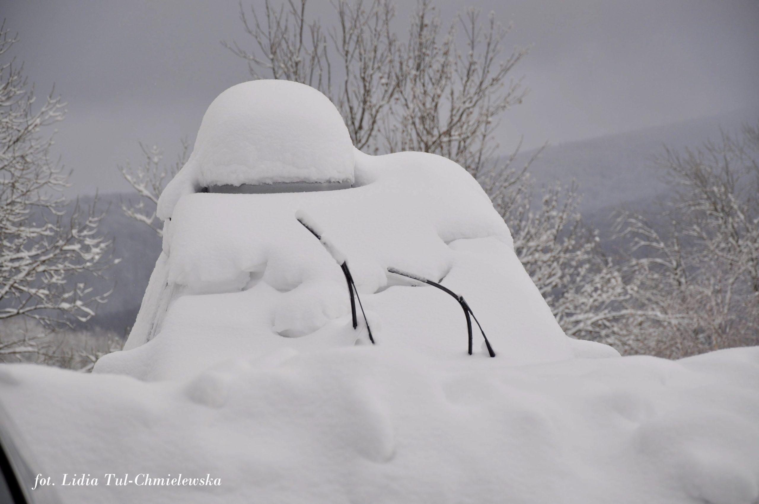 W Bieszczadach bywa i taka zima fot. Lidia Tul-Chmielewska