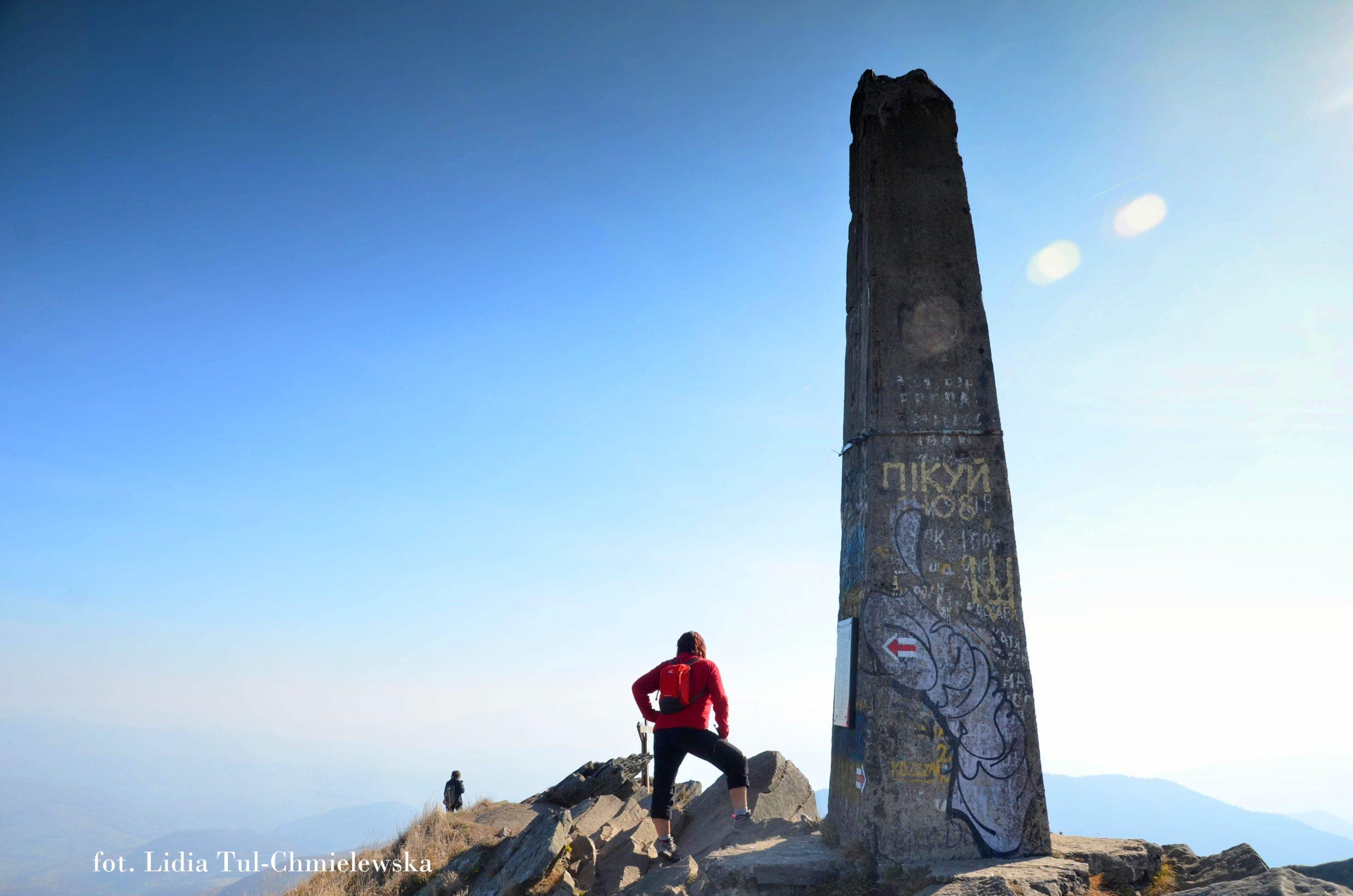 Obelisk na szczycie Pikuja fot. Lidia Tul-Chmielewska