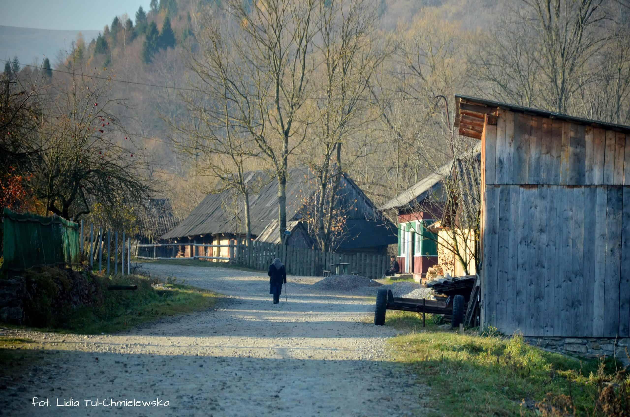 Zakarpacka wieś fot. Lidia Tul-Chmielewska