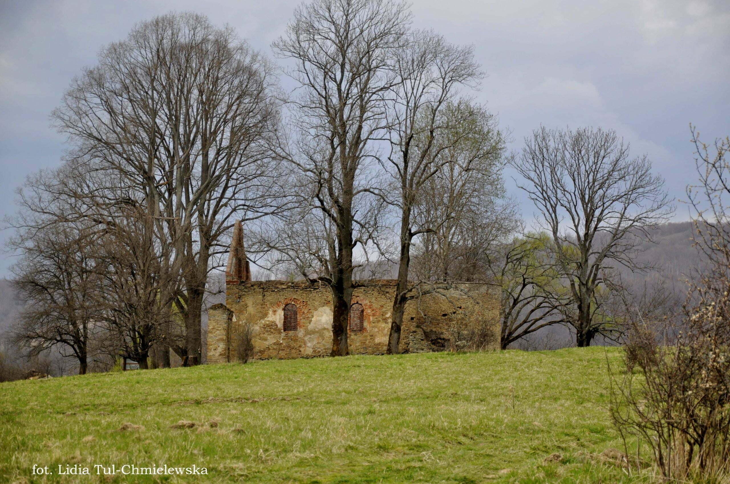 Ruiny cerkwi w Krywe fot. Lidia Tul-Chmielewska