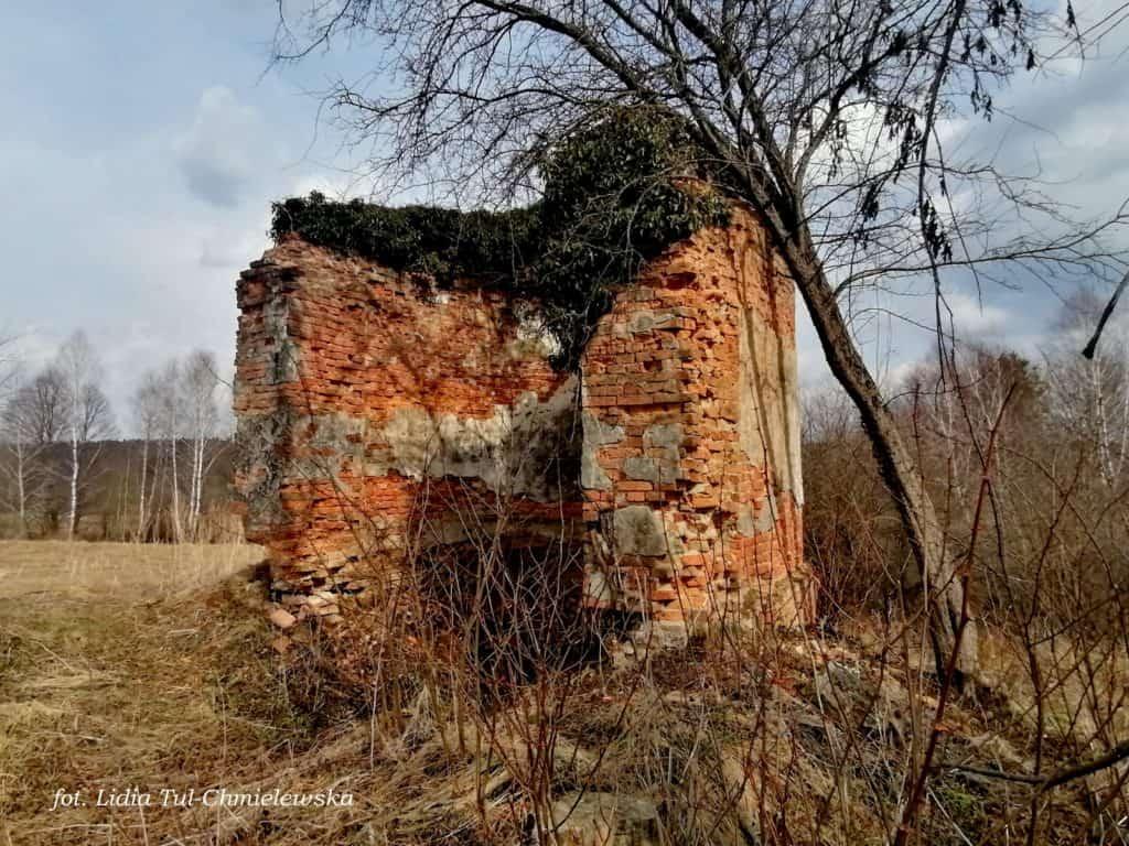 Ruiny kaplicy grobowej Jałowe fot. Lidia Tul-Chmielewska