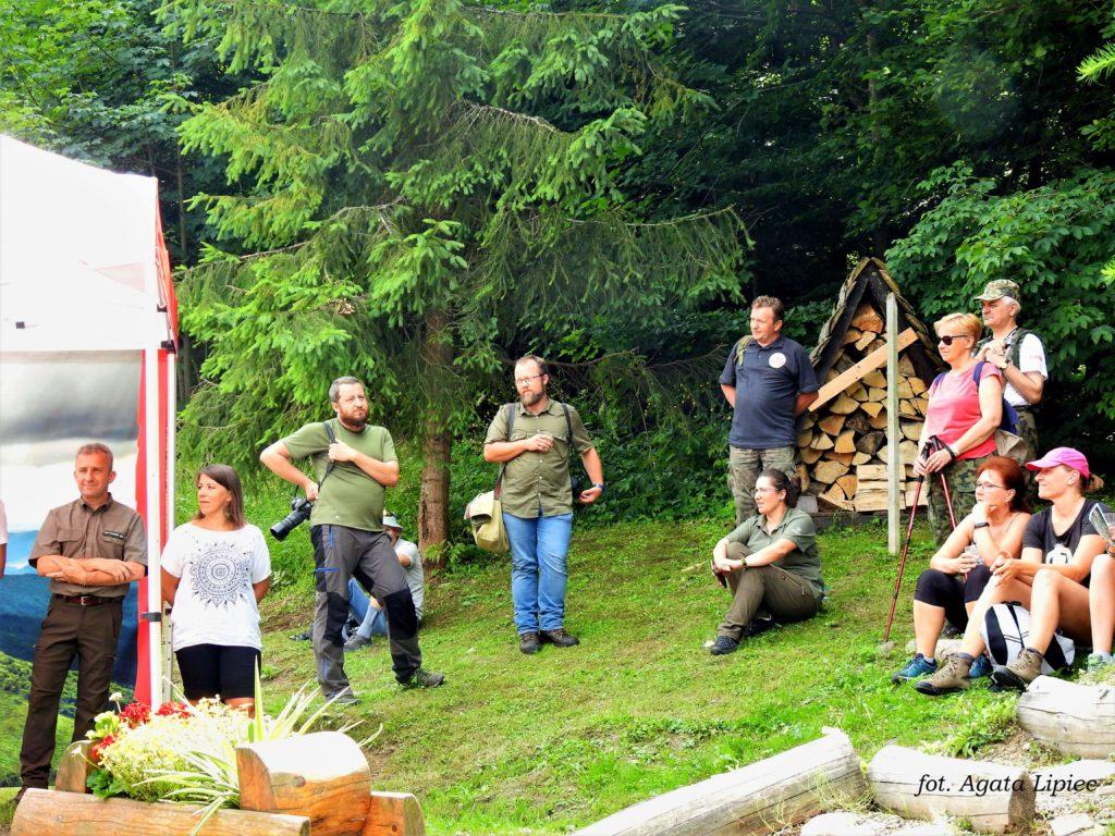 Uroczystość otwarcia ścieżki Dziki Hon w Cisnej fot. Agata Lipiec