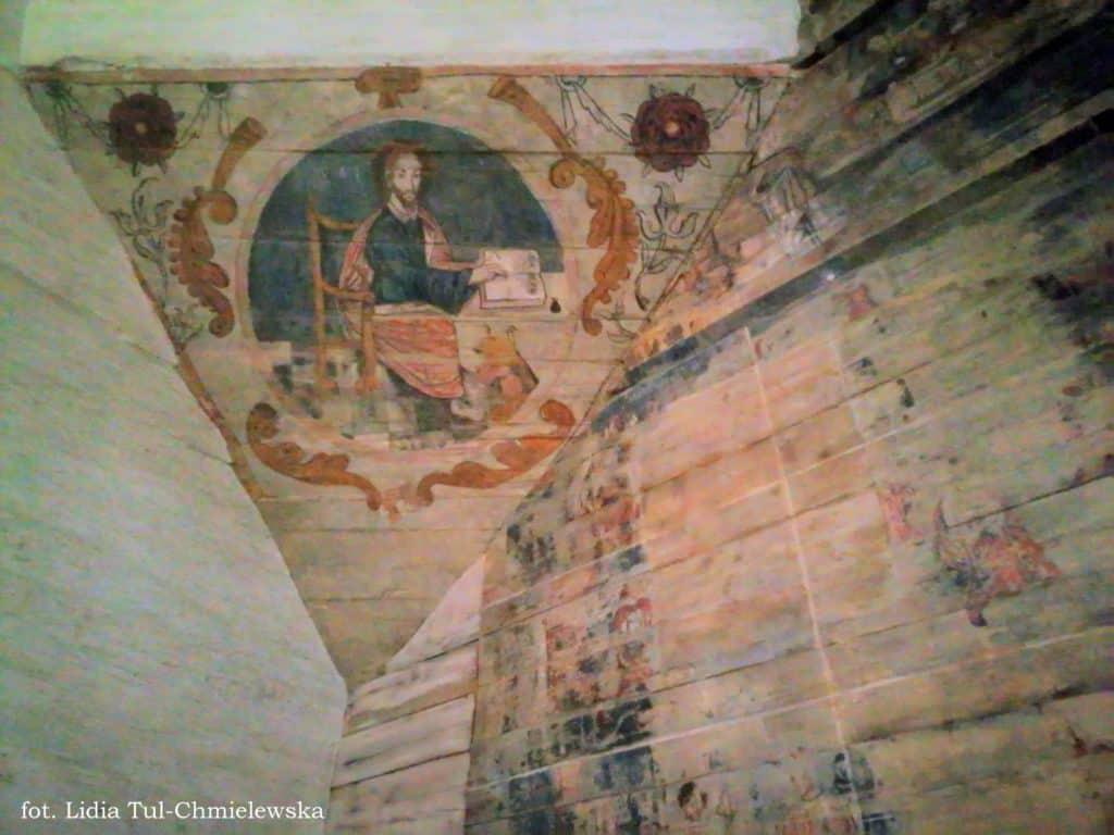 Zachowana polichromia cerkiew Ulucz fot. Lidia Tul-Chmielewska